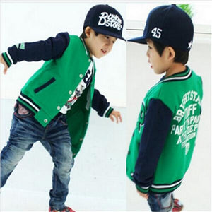 2016 New arrived Spring autumn baby boy jackets Kids Clothes Children outerwear Babi Boys baseball Suit 1pcs Free Shipping