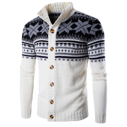 2016 New autumn fashion brand casual sweater stand collar striped Slim knit men's sweater and national wind pullover men's