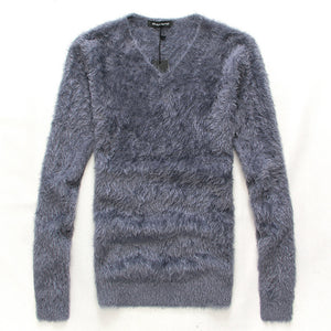 2016 new Autumn mohair sweaters han edition cultivate one's morality man v-neck knitting render unlined upper garment