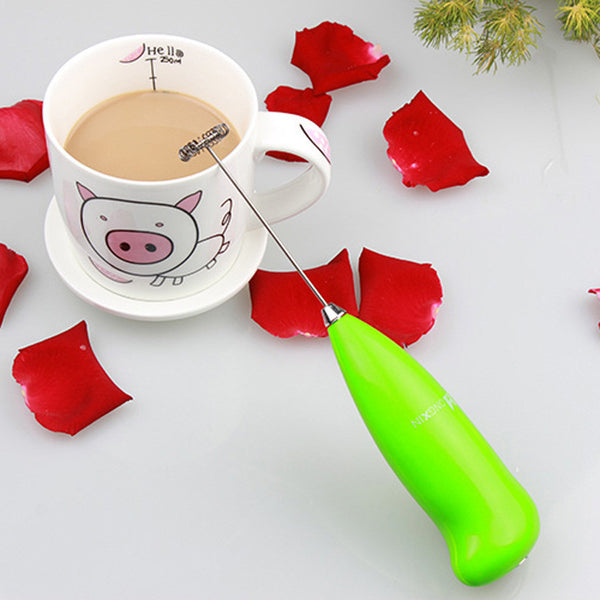 2016 New Design Fashion Hot Drinks Milk Frother Foamer Whisk Mixer Stirrer Egg Beater