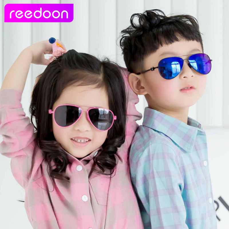 b46484dce98 ... 2016 New Fashion Children Sunglasses Boys Girls Kids Baby Child Sun Glasses  Goggles UV400 mirror glasses ...