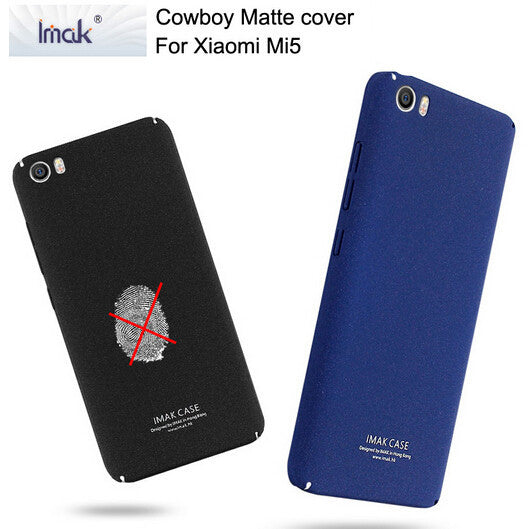 2016 New Imak Cowboy Back Cover For Xiaomi Mi5 M5 Matte Frosted Anti-fingerprint Hard Case + Free Tempered Glass Screen