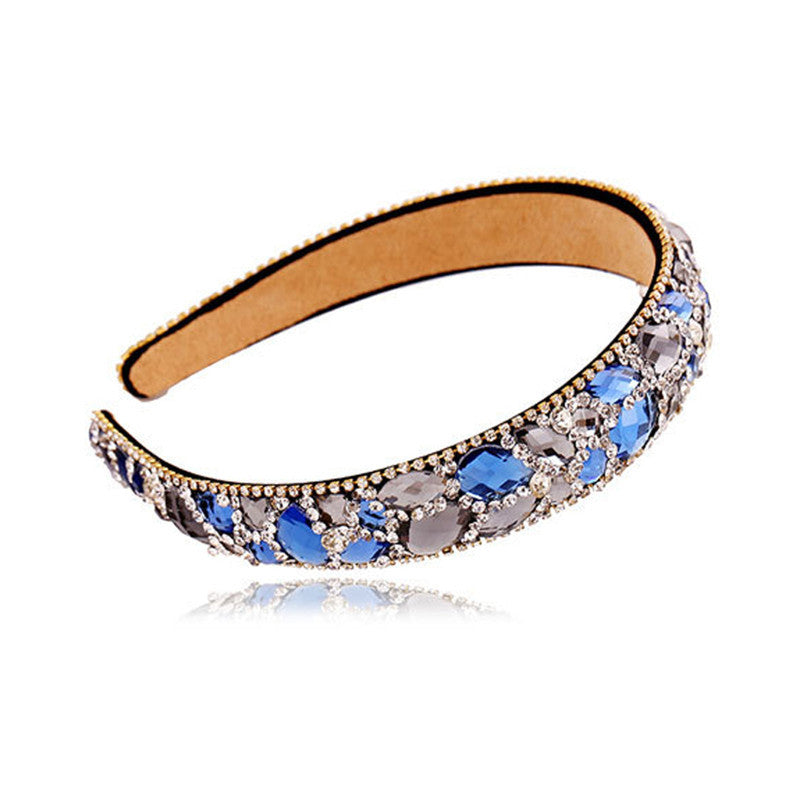 2016 New Korean Hair Accessories Luxury Colorful Hair Crystal Bands