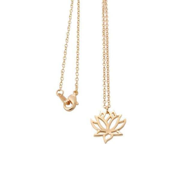 2016 New Lotus Necklaces for Women Elegant Vivid Lotus flower Pendant Necklaces Wedding and Party Gifts XL017