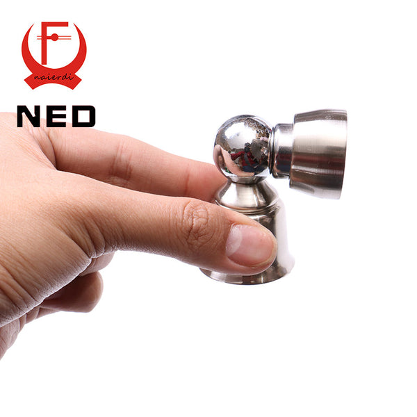 2016 NEW NED 304 Stainless Steel Magnetic Sliver Door Stop Casting Powerful Mini Door Stopper Holder Catch For Bedroom Home Etc