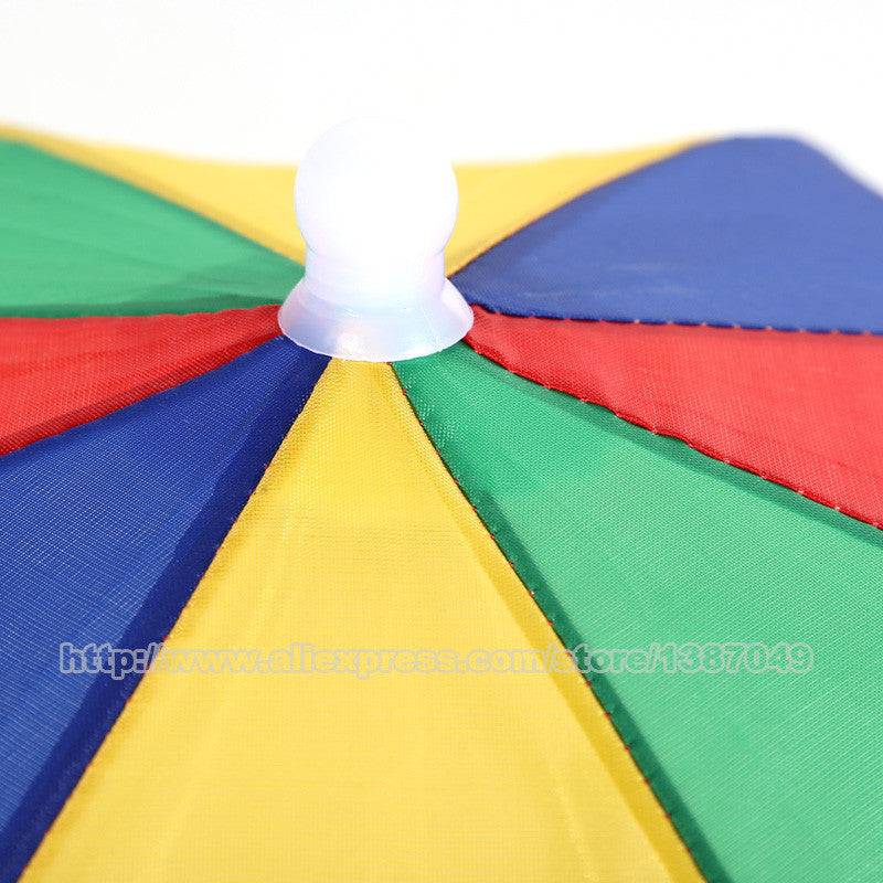 07984c25 ... 2016 New Product Usefull 2 Color Umbrella Hat Sun Shade Camping Fishing  Hiking Festivals Outdoor Brolly ...