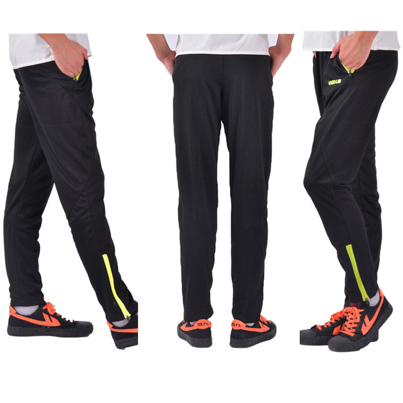 966637b714665 ... 2016 New Professional Soccer Training Pants Slim Skinny Sports  Polyester Football Running Pants Tracksuit Trousers Jogging ...