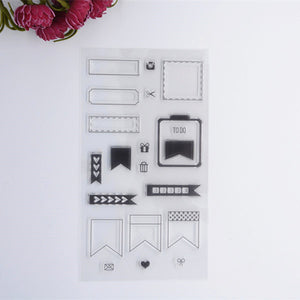 2016 new Scrapbook DIY Photo Album Account Transparent Silicone Rubber Clear Stamps