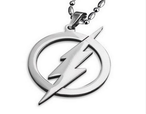 2016 New The Flash Thunder 316L Stainless Steel Necklaces For Women Movie Pendant necklace for Men Jewelry Barry Allen Necklace