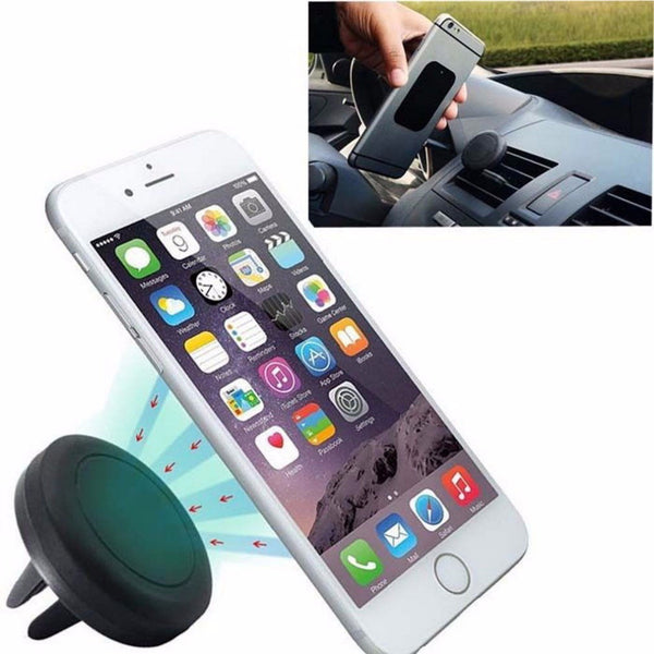2016 New Universal Car Interior Magnetic Air Vent Mount Holder Stand for iPhone 6 6S Plus Smartphones UF GPS Free Shipping