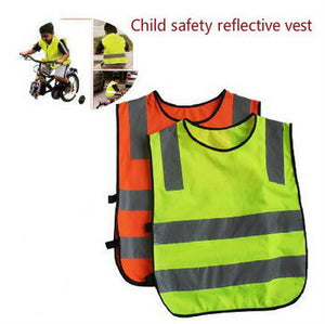 2016 Reflective Vest Knitting Polyester Fabric Kids Reflective Safety Vest Children High Visibility Security For Direct Selling