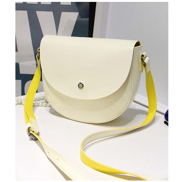 B.angel Button Solid Pu Handbags Women L1033