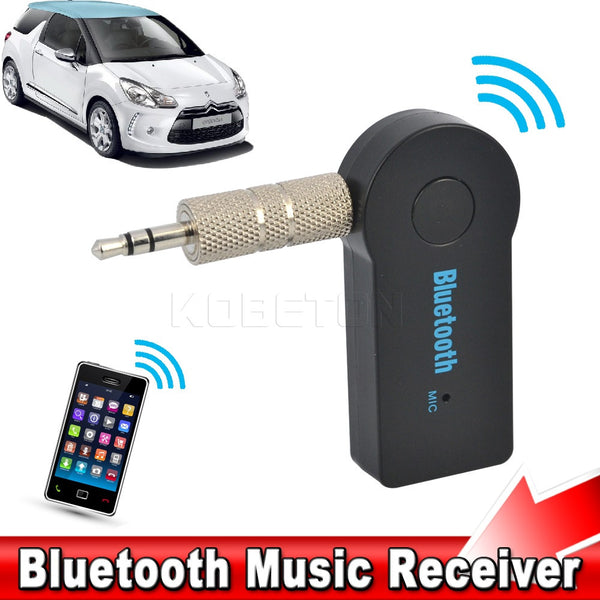 2016 Universal Handfree Car Bluetooth Music Audio Receiver 3.5mm Streaming A2DP Wireless Auto AUX Adapter With Mic For Phone MP3