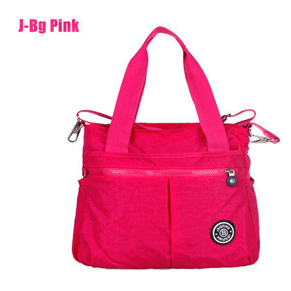 J-bg Pink Button Solid Nylon Handbags Women 2016