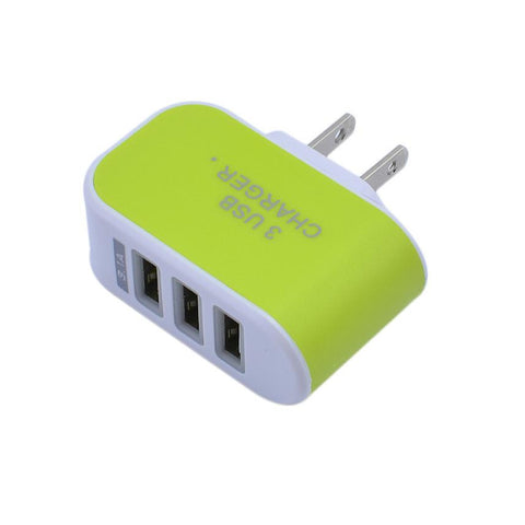2017 5V 3.1A Triple USB 3 Port Wall Home Travel AC USB Charger Adapter For Samsung Galaxy S6 For Iphone 5 5s 5c US Plug