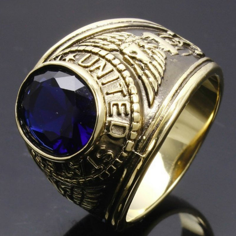 signet abbf vintage wedding rings military ring products gold