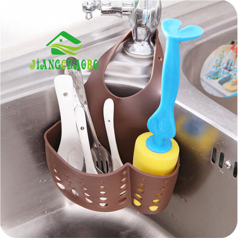 2017 New Sponge Holder Bag Tool Kitchen Sink Bathroom Hanging Organizer Storage Strainer