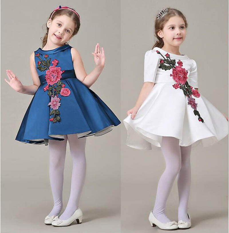 2017 Summer Girls Dress Designer Brand Kids New Children