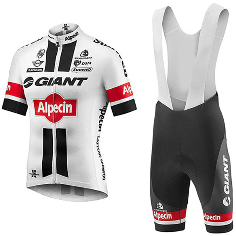 2017 White GIANT pro Cycling Jersey Bike bibs shorts set quick dry bicycle Clothing MTB BICYCLING Maillot Culotte