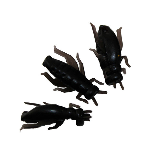 20pcs lot 2CM Black Soft Fishing Lures Set Insect Cricket Artificial Bait Lure Fishing Swimbait For Fishing Tackle Free Shipping
