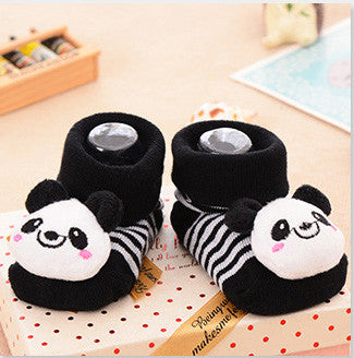 24 Style Lovely Cute Newborn Baby Socks Animal Cartoon Doll Infant Socks Model Anti-slip Boys Girls Socks 2017 New Arrival