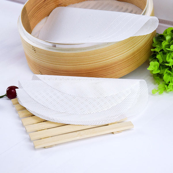 24cm Silicone Steamer Non-Stick Pad Round Dumplings Mat Steamed Buns Baking Pastry Dim Sum Mesh home Kitchen cooking tools