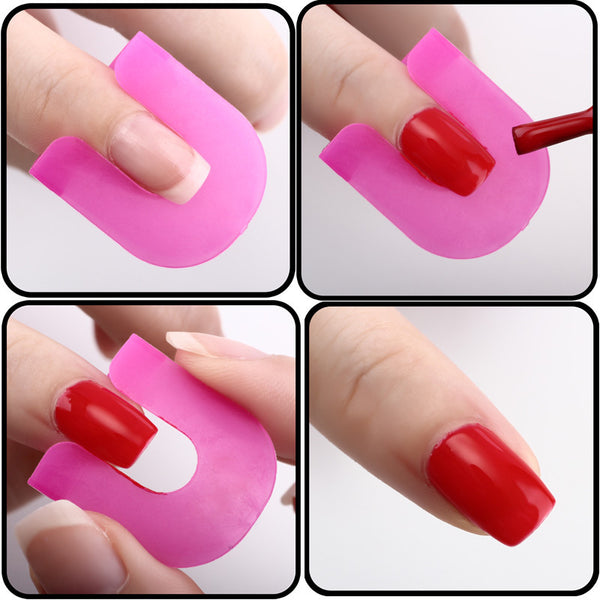 26pcs set Creative Nail Polish Spill-Resistant Manicure Finger Cover Nail Polish Molds Shield Special Nail Art Tool Popular