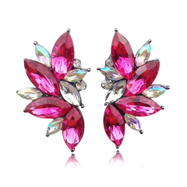 27th Trendy Zinc Alloy Resin Stud Earrings Women 15001