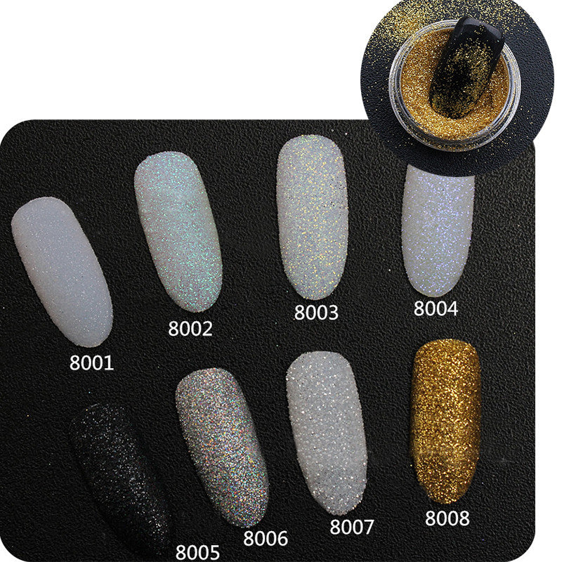 2g Box Holo Glitter Powder Shiny Sugar Glitter Dust Powder Nail Art Manicure Decoration