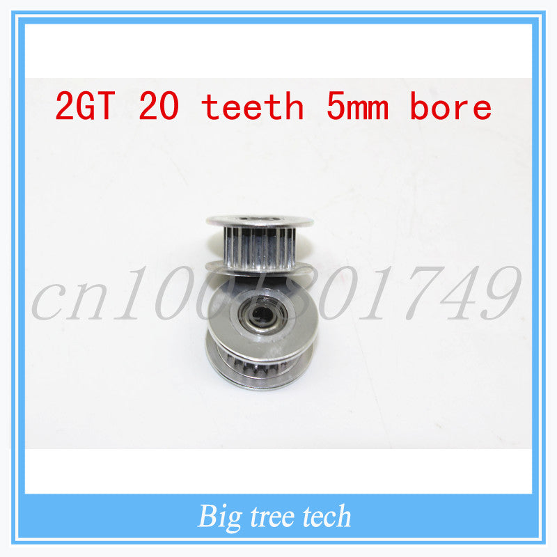 2GT 20 teeth pulley wheel Perlin passive idler pulley wheel bore 5mm For 3d printer