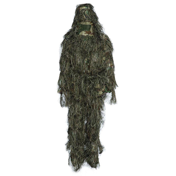 3 Colors Camouflage Jungle Hunting Ghillie Suit Set Woodland Birdwatching Poncho Breathable Hunting Clothes For Outdoor Training