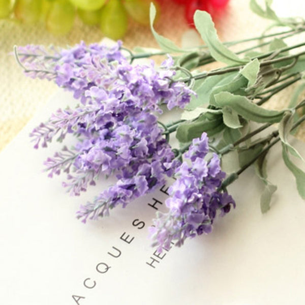 3 Color 10 heads Provence Lavender Artificial Silk Flowers Home Decorations For Wedding Party Gift Dried Flowers