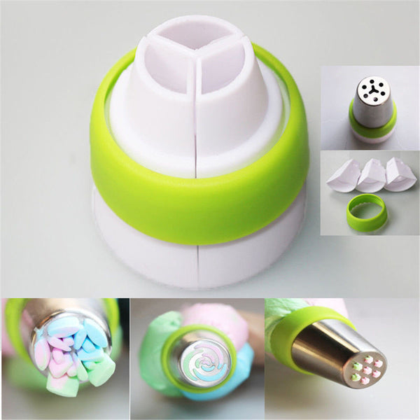 3-Color Icing Piping Bag Russian Nozzle Converters Coupler Cake Decorating Tools Free Shipping