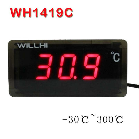 -30-300 Celsius degree digital thermometer LED display thermostat