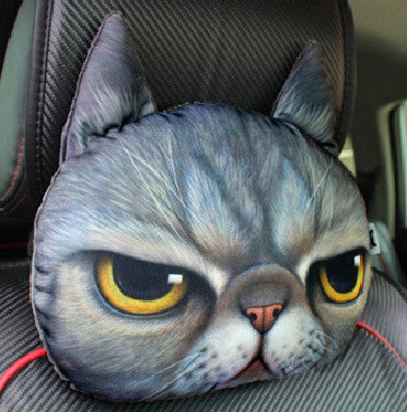 30*30cm Headrest Cat Dog Shape Sofa Cushion Toy Doll Car Travel Headrest Gift Birthday Wedding Home Chair Pillow Head Rest