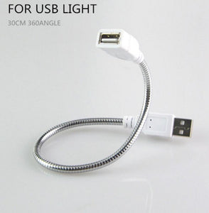 USB Male To Female Extension Cable LED Light Fan Adapter Cable Metal Hose Cord E