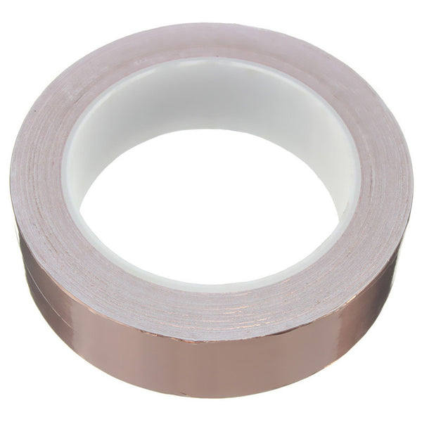 30mmx20m Adhesive Copper Foil Tape EMI Shielding Electric Conduction For Guitar Slug and Snail Barrier Single-sided
