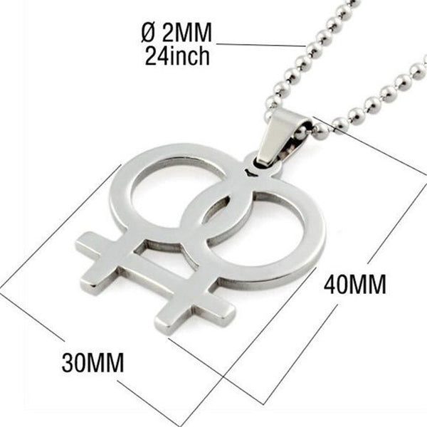 316L Stainless Steel Lesbian Gay Pride Pendant & Necklace for Women Girls bijoux Female Fashion Jewelry