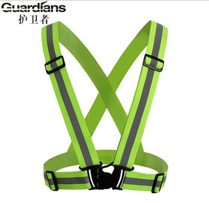 360 Degrees High Visibility Safety vest Waistcoat Outdoor For Running Cycling Vest Harness Reflective Belt Safety Jacket