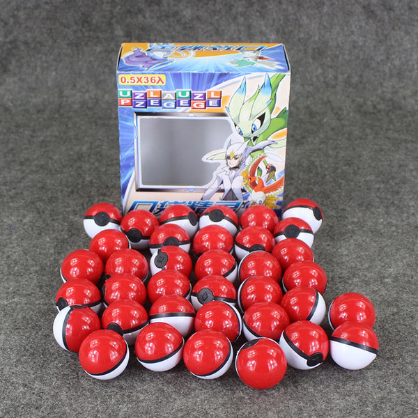 36pcs set Pokeball Small Mega Poke Ball Toys With Poke Figures and Poke Cards Great Brinquedos Gifts For Kids Collection