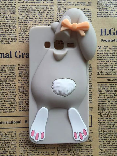 3D Cartoon Bunny Back Cover Case For Samsung Galaxy Grand Prime G530 G530H G5308W Rabbit Silicon Gell Phone case