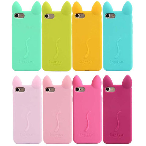 3D Cute Koko Cat Intelligence Button Soft Silicone Mobile Phone Cases Back Cover For iPhone 4S 5s 5c 6S 6plus 7 7plus JS0511