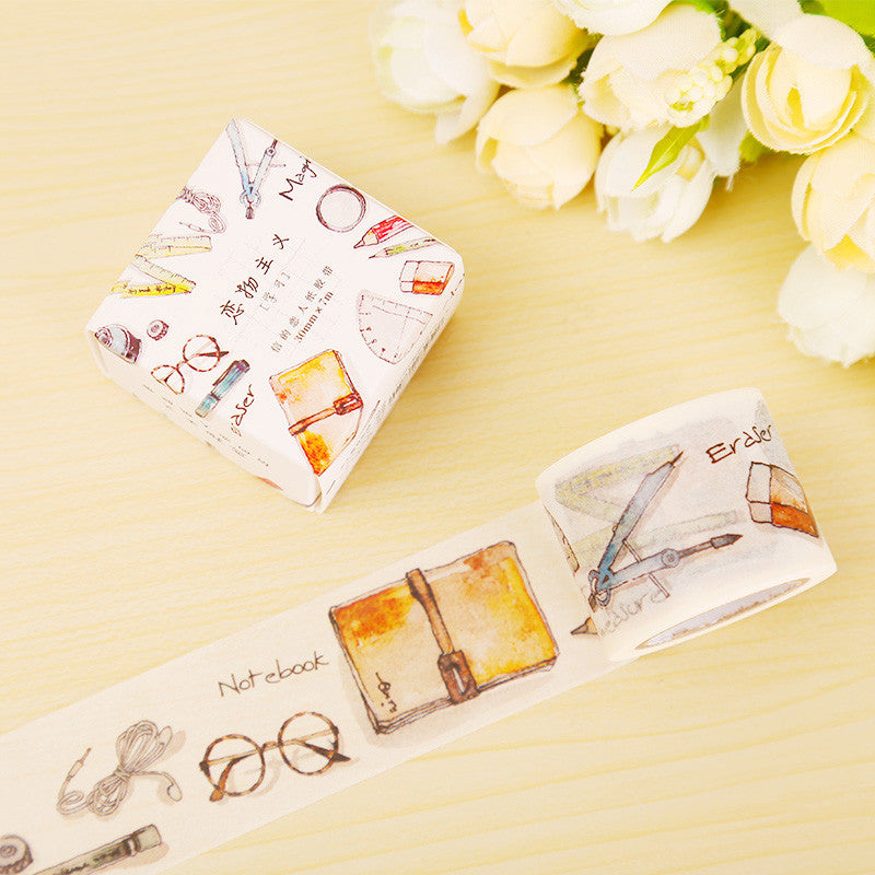 3cm*7m Study Tools washi tape DIY decorative scrapbooking sticker planner masking adhesive tape label school supplies