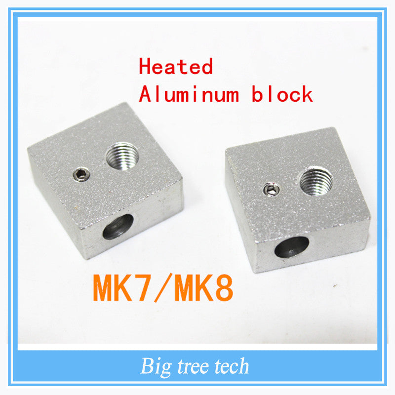 3D printer accessories heating block Makerbot MK7 MK8 dedicated print head heated aluminum block