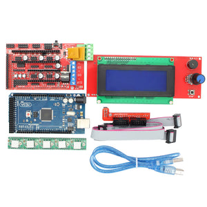 3D Printer Kit Mega 2560 R3 + 1pcs RAMPS 1.4 Controller + 5pcs A4988 Stepper Driver Module RAMPS 1.4 2004 LCD control