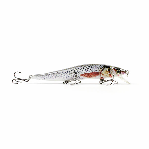"4.7"" 14.6g Artificial Minnow Fishing Lure Realistic Paint Fishing Bait Lifelike Hard Crankbait Fish Tackle Wobbler Pesca HML09C"
