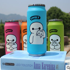 4 Color 300ML 400ML Big Hero Thermos Cup Stainless Steel Water Bottle Vacuum Flasks Thermoses Garrafa Termica Infantil Bottle