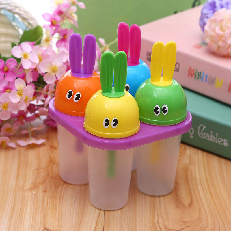 4 In 1 DIY Ice Cream Popsicle Maker Lolly Mould Tray Pan Kitchen DIY Frozen Ice Cream Pop Mold Summer Great freezer molds