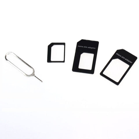 4 in 1 With Retail Package 2016 Nano SIM Card Adapter Convert Nano SIM Card to Micro Standard Adapter For iPhone 5 5s 6 6s#WGEW
