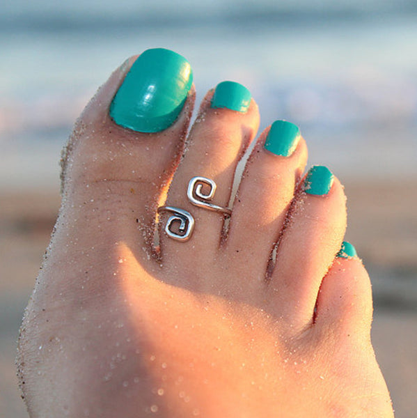 2016 New Free shipping Women Lady Unique Retro Silver Plated Nice Toe Ring Foot Beach Jewelry Hot For Women